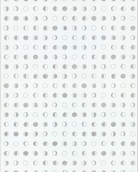 Lunar Wallpaper - White Silver White Off Whites by