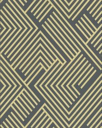 Perplexing Wallpaper - Charcoal Gold Blacks by