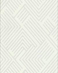 Perplexing Wallpaper - White Silver White Off Whites by