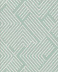 Perplexing Wallpaper - Mint Silver Greens by