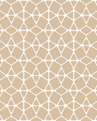 Facet Wallpaper - White Gold Metallics by