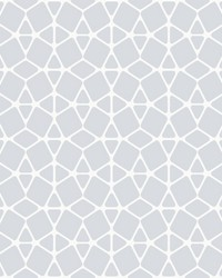 Facet Wallpaper - White Silver White Off Whites by