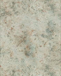 Mineral Deposit Wallpaper - Rust Teal Greens by