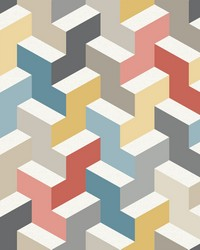 The Right Angle Wallpaper - Orange Teal Gold Oranges by