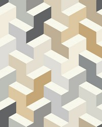 The Right Angle Wallpaper - Neutral Yellows by