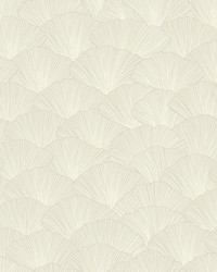 Luminous Ginkgo Wallpaper Taupe by