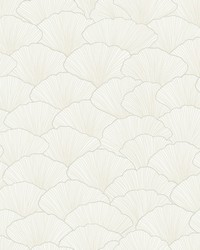 Luminous Ginkgo Wallpaper White Cream by