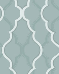 Double Damask Wallpaper Teal by