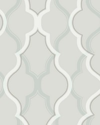 Double Damask Wallpaper Silver by