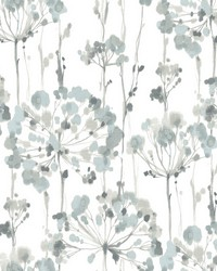 Flourish Wallpaper Blue Gray by
