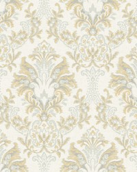 Bold Brocade Wallpaper Yellow by