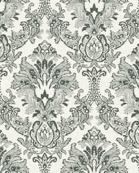 Bold Brocade Wallpaper Black by