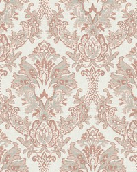 Bold Brocade Wallpaper Tan  Grey by