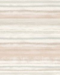 Fleeting Horizon Stripe Wallpaper Pink  Beige by