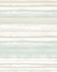 Fleeting Horizon Stripe Wallpaper Green by
