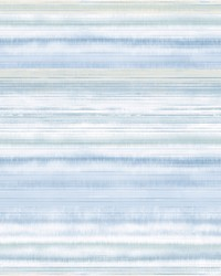 Fleeting Horizon Stripe Wallpaper Light Blue by