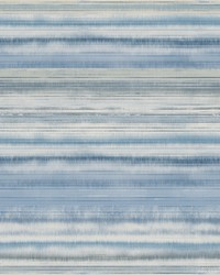 Fleeting Horizon Stripe Wallpaper Blue  by