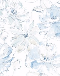 Floral Dreams Wallpaper Blue by