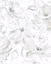 Floral Dreams Wallpaper Gray by