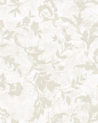 Vine Silhouette Wallpaper White  Off White by