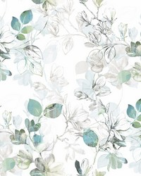 Arbor Vine Wallpaper Blue  Green by