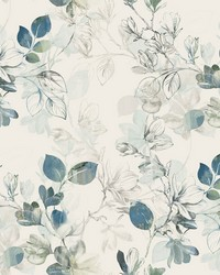 Arbor Vine Wallpaper Blue by
