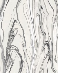 Liquid Marble Wallpaper Black by