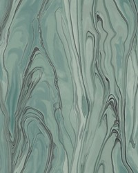 Liquid Marble Wallpaper Green by