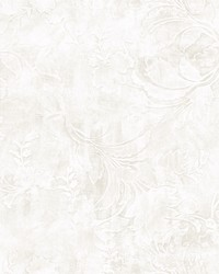 Entablature Scroll Wallpaper White by