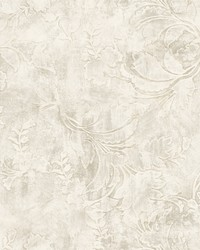 Entablature Scroll Wallpaper Cream by