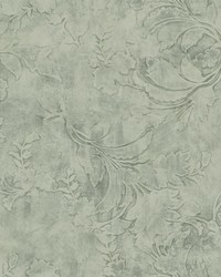 Entablature Scroll Wallpaper Green by