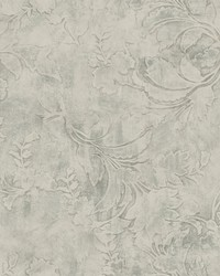 Entablature Scroll Wallpaper Gray by