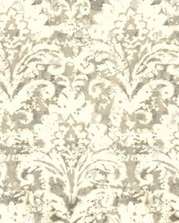 Batik Damask Wallpaper Tan by