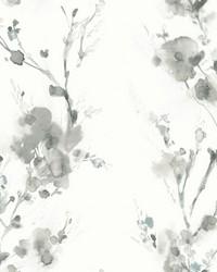 Charm Wallpaper Grey Blacks White Off Whites Blacks by