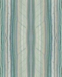 Festival Wallpaper Teal Blues Greens White Off Whites by