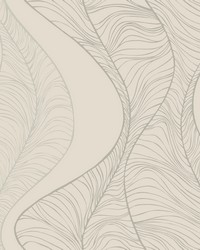 Hoopla Wallpaper Pearl White Off Whites Blacks by