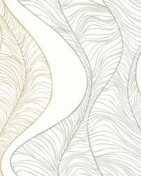 Hoopla Wallpaper Metallic White Off Whites Metallics by