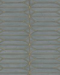 Pavilion Wallpaper Charcoal Blues Metallics Blues by