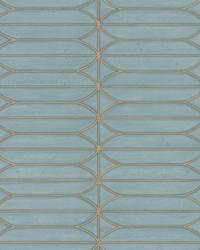 Pavilion Wallpaper Denim Blues White Off Whites by