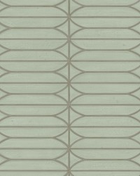 Pavilion Wallpaper Sage Greens Metallics by