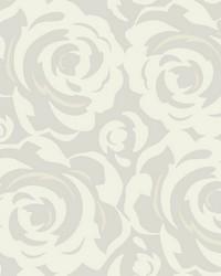 Lavish Wallpaper White on Pearl White Off Whites by