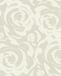 Lavish Wallpaper White on Grey White Off Whites Metallics by