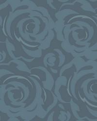 Lavish Wallpaper Navy Blues by