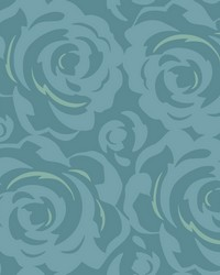 Lavish Wallpaper Teal Blues by