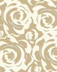 Lavish Wallpaper White on Gold White Off Whites Greens by