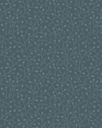 Intrigue Wallpaper Navy w  Iridescent Blues by