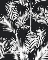 King Palm Silhouette Wallpaper Blue by