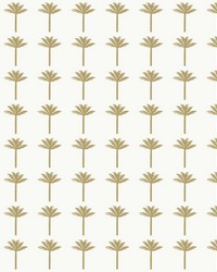 Palm Bay Wallpaper Metallic Gold by