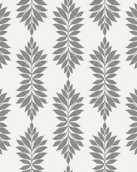Broadsands Botanica Wallpaper Gray Off White by