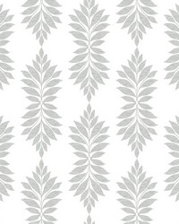 Broadsands Botanica Wallpaper Light Gray by
